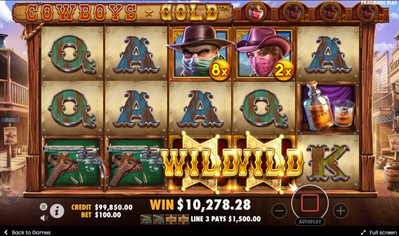 Cowboys Gold :: A four of a kind win