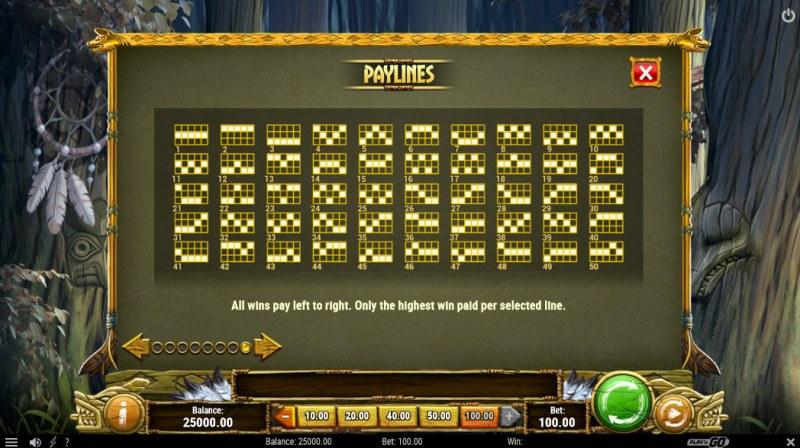 Coywolf Cash :: Paylines 1-50