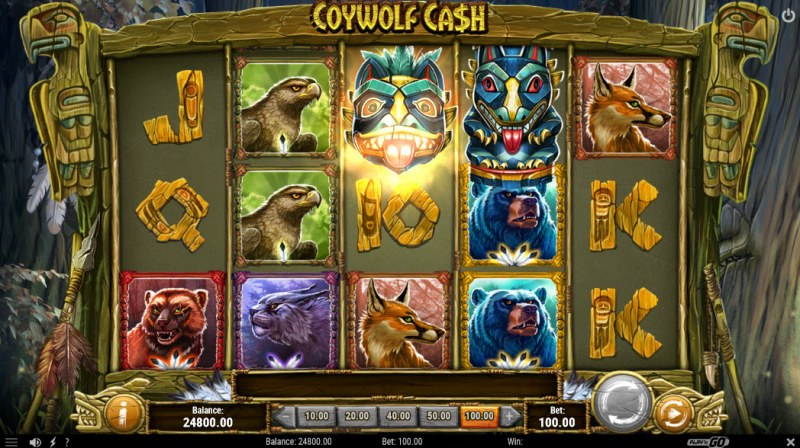 Coywolf Cash :: Wild Reel feature activated