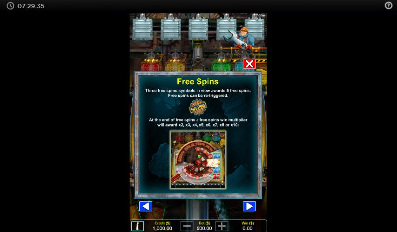 Crank it Up :: Free Spins Rules