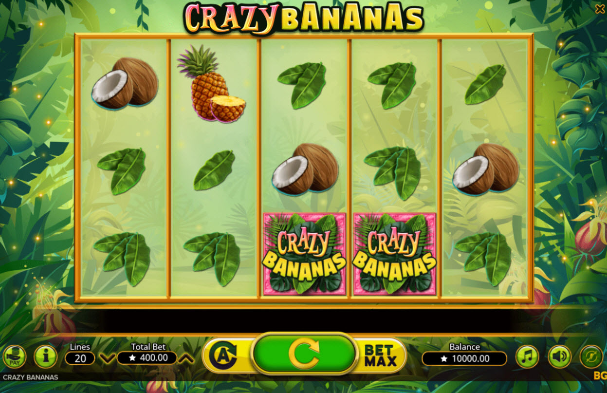 Play slots at Wild Jackpots: Wild Jackpots featuring the Video Slots Crazy Bananas with a maximum payout of $200,000