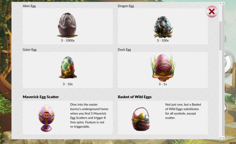 Crazy Easter Eggs :: Paytable