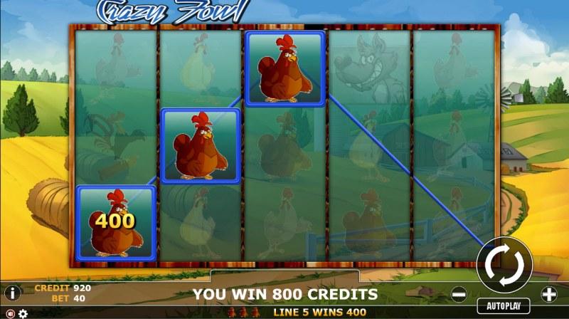 Crazy Fowl :: Three of a kind win