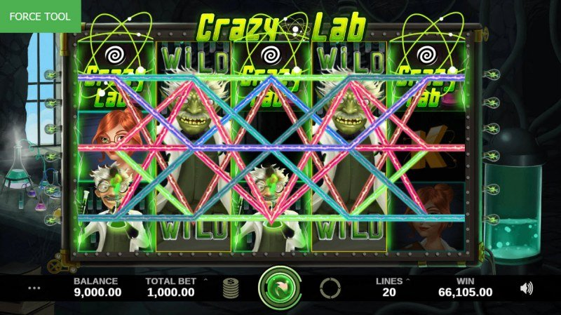 Crazy Lab :: Multiple winning combinations leads to a big win