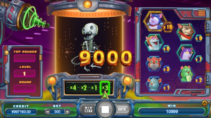 Crazy Lab :: Bonus play ends when skeleton appears