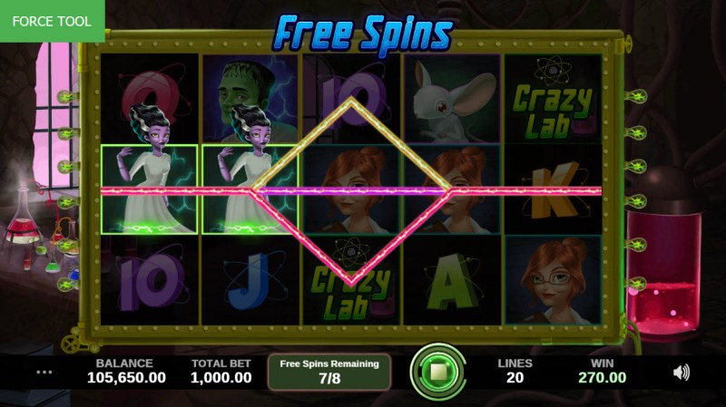 Crazy Lab :: Free Spins Rules