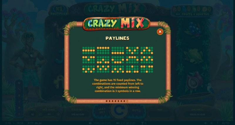 Crazy Mix :: Prize Lines 1-15