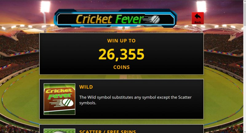 Cricket Fever :: Win Up To 26,355 Coins