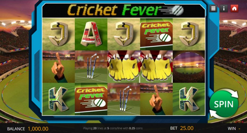 Cricket Fever :: Main Game Board