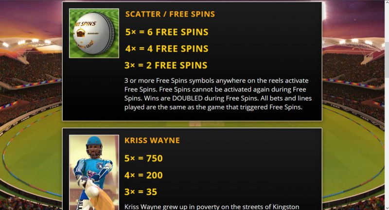 Cricket Fever :: Free Spin Feature Rules