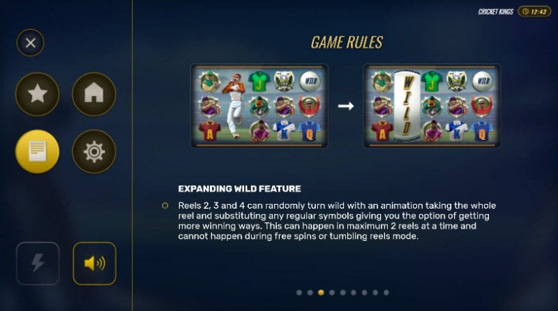 Cricket Kings :: Expanding Wild Feature