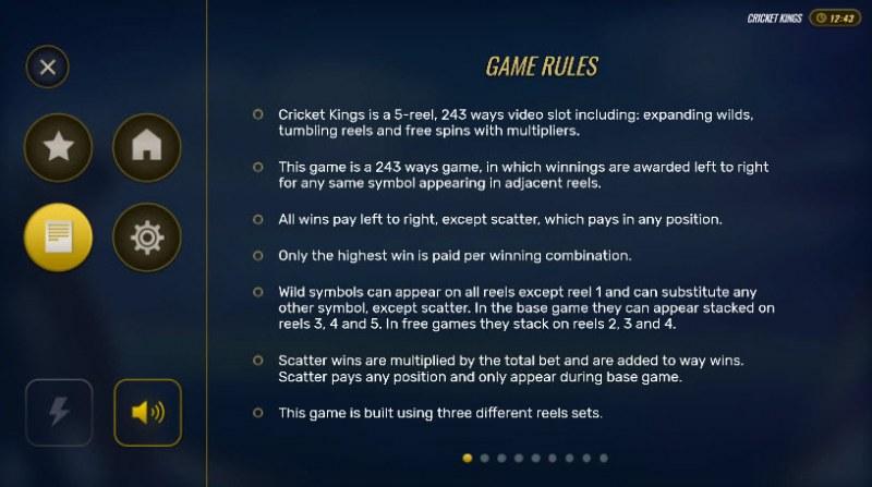 Cricket Kings :: General Game Rules