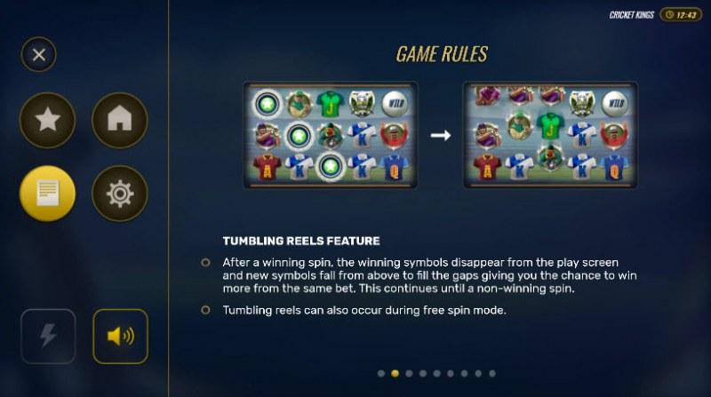 Cricket Kings :: Tumbling Reels