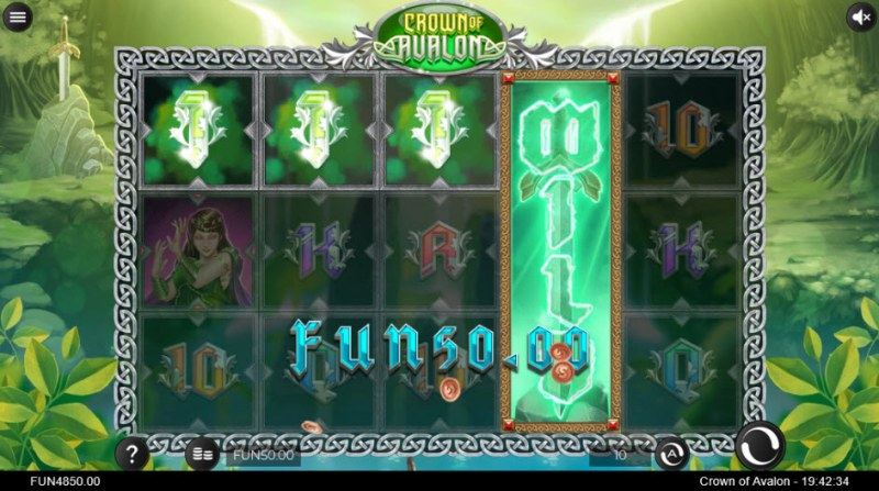Crown of Avalon :: A four of a kind Win