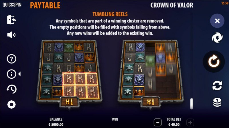 Crown of Valor :: Tumbling Reels