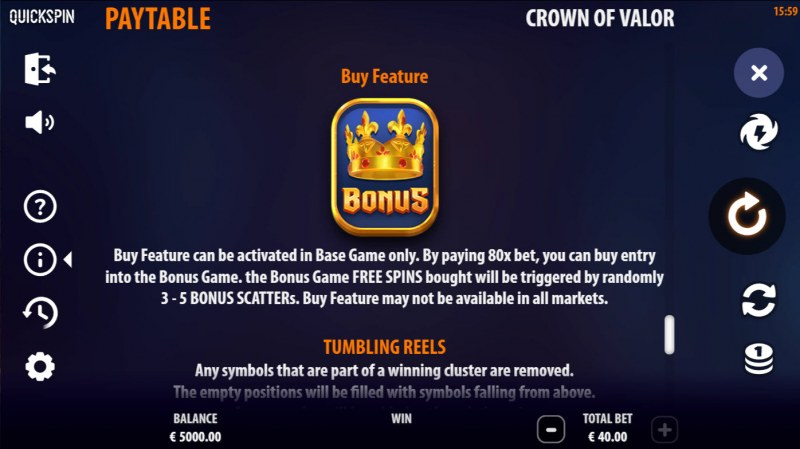 Crown of Valor :: Buy Feature