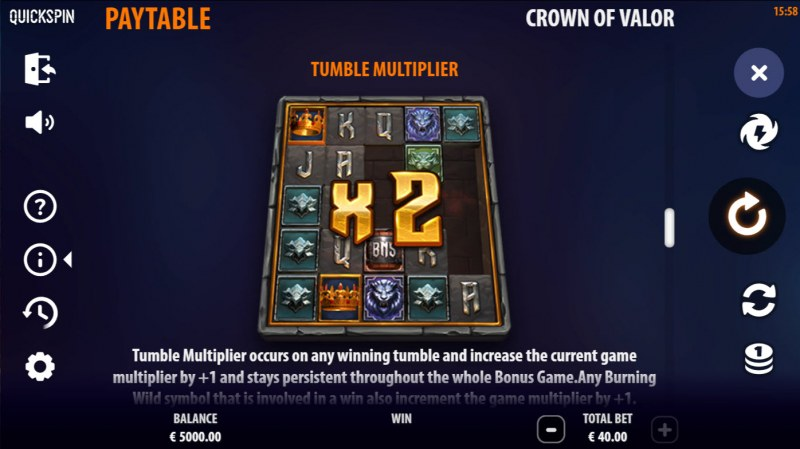 Crown of Valor :: Tumble Multiplier