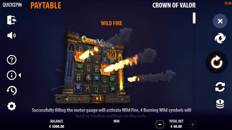Crown of Valor :: Wild Fire Feature