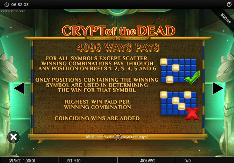 Crypt of the Dead :: 4096 Ways to Win