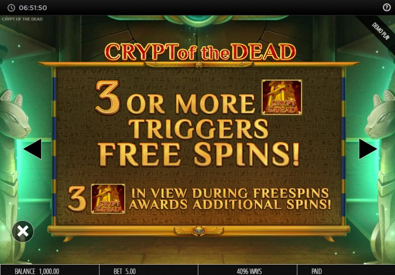 Crypt of the Dead :: Scatter Symbol Rules