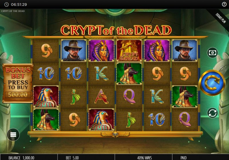 Crypt of the Dead :: Base Game Screen