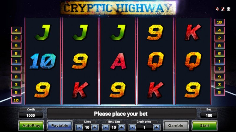 Cryptic Highway :: Main Game Board