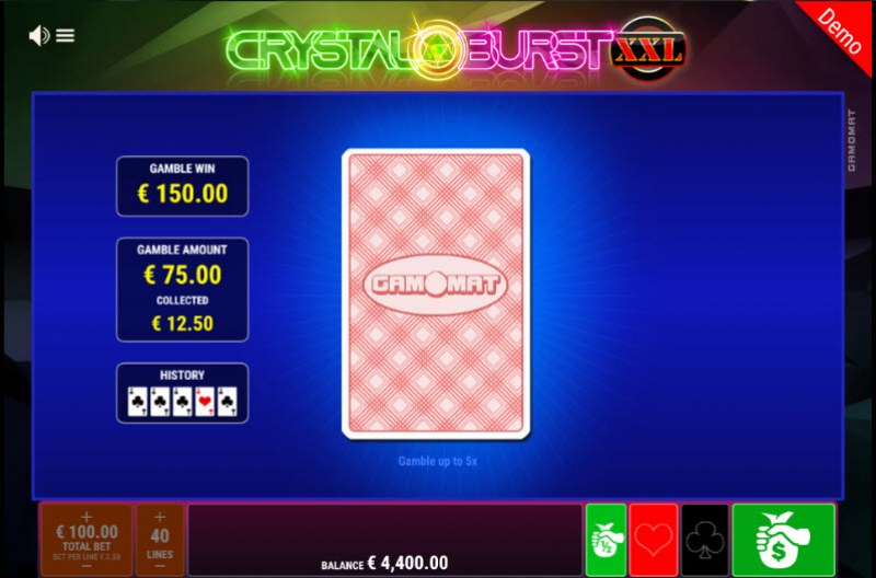Crystal Burst XXL :: Red or Black Gamble Feature