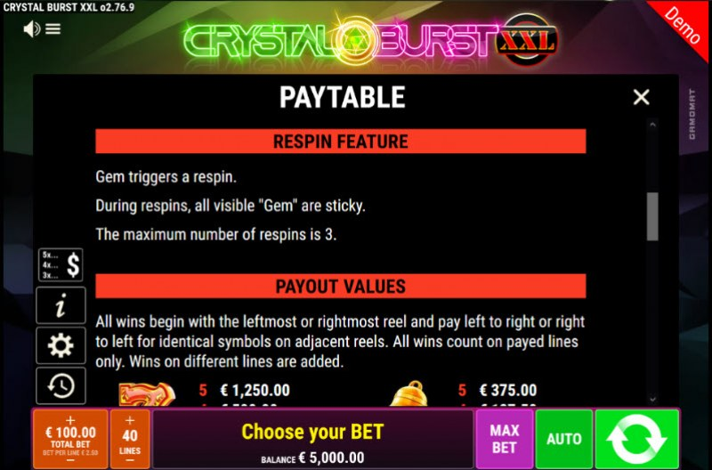 Crystal Burst XXL :: Feature Rules