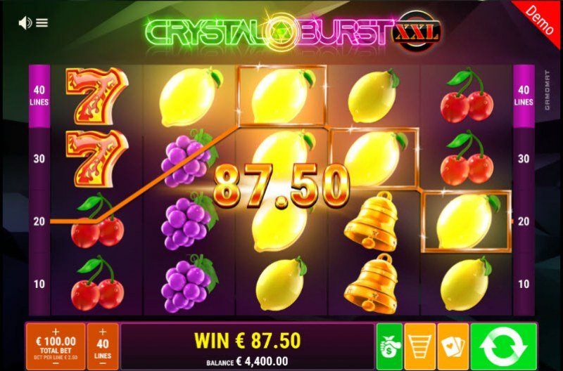 Crystal Burst XXL :: Game pays in both directions
