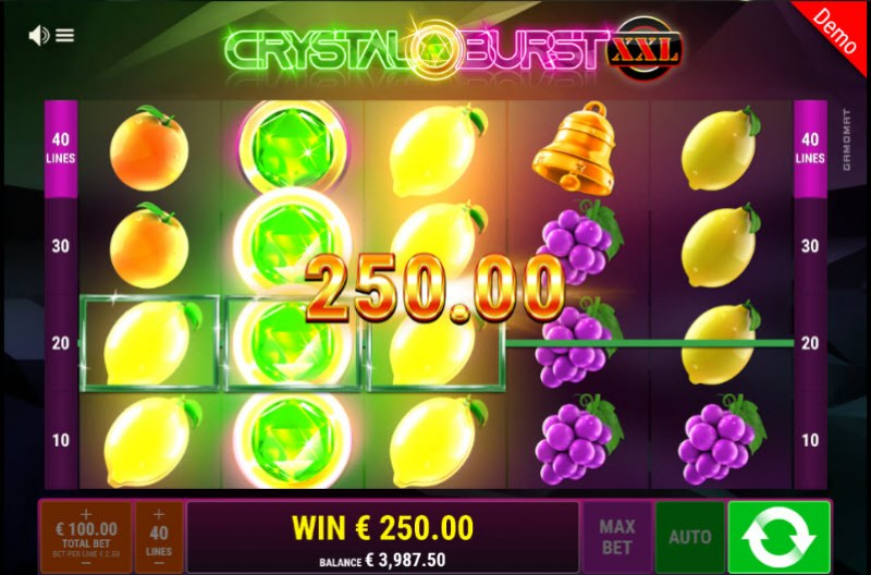 Crystal Burst XXL :: Multiple winning paylines