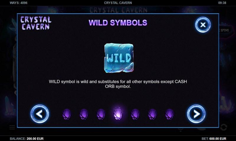 Crystal Cavern :: Wild Symbols Rules