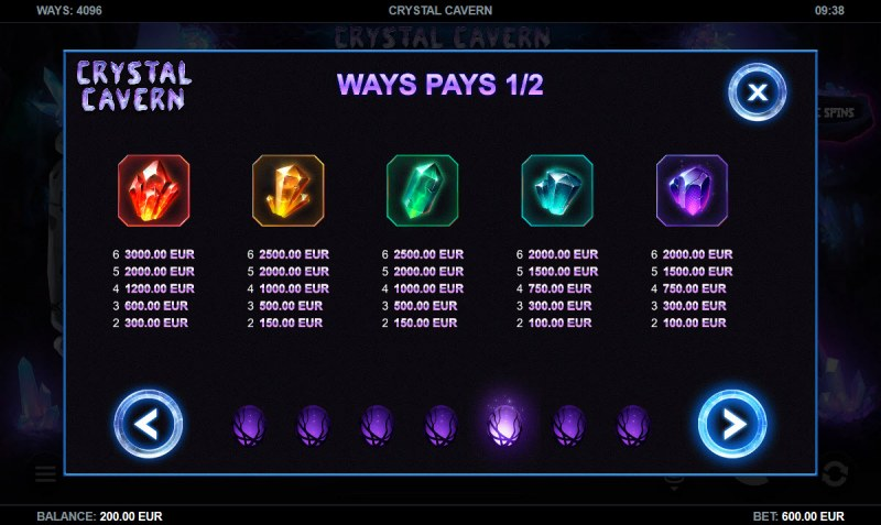 Crystal Cavern :: Paytable - High Value Symbols