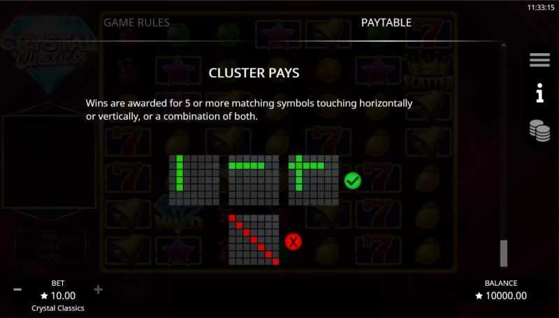 Crystal Classics :: Cluster Pays