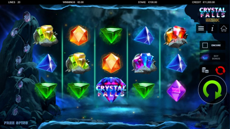 Crystal Falls :: Base Game Screen