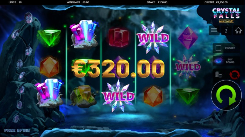 Crystal Falls :: A four of a kind win