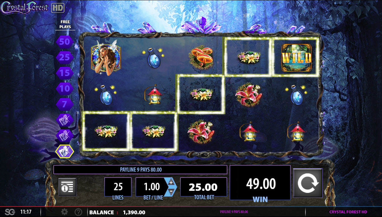 Play slots at Casino Red Kings: Casino Red Kings featuring the Video Slots Crystal Forest with a maximum payout of $250,000