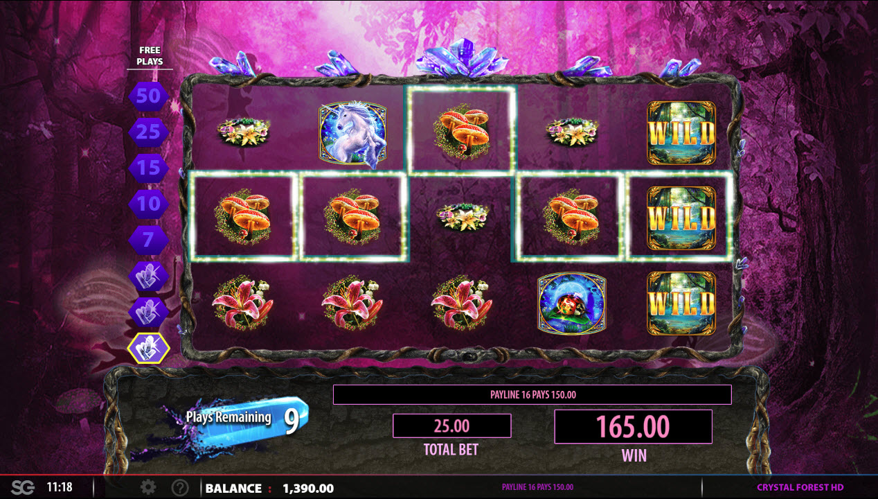 Crystal Forest :: Free Spins Game Board