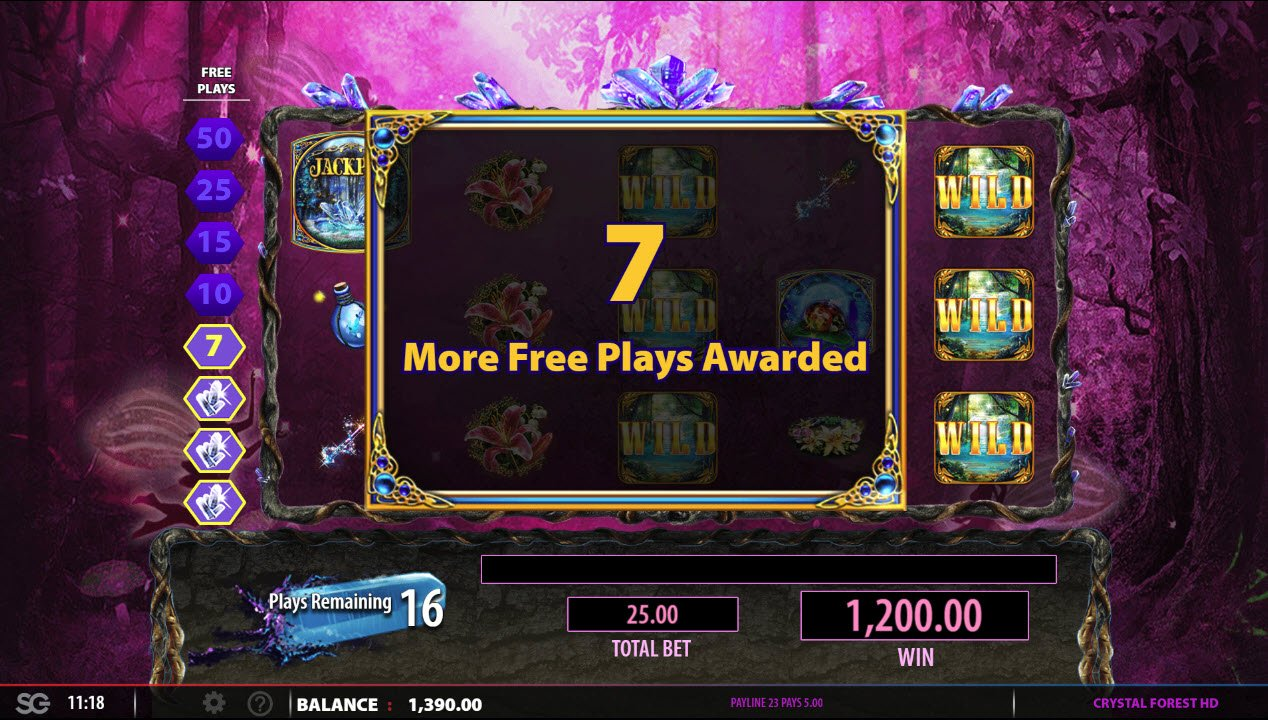 Crystal Forest :: 7 More Free Spins Awarded