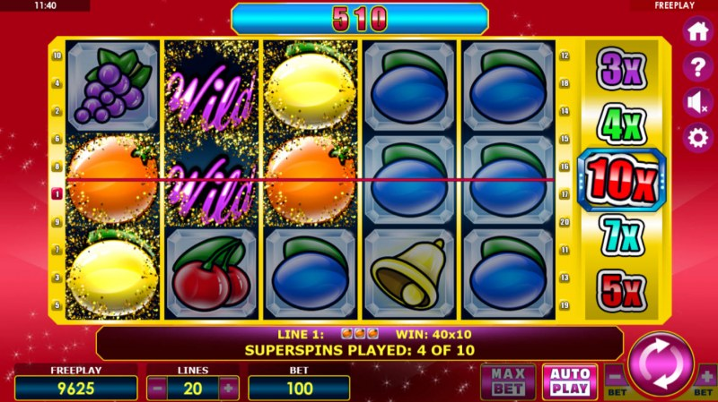 Crystal Fruits :: Multiple winning paylines