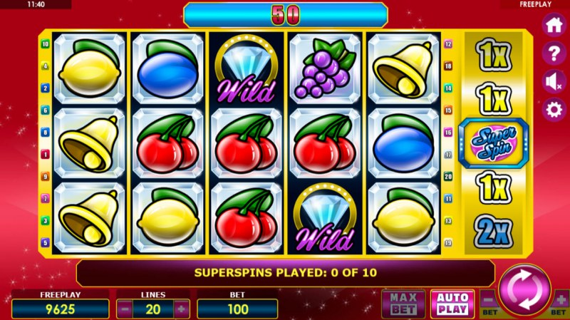Crystal Fruits :: Free Spins Game Board