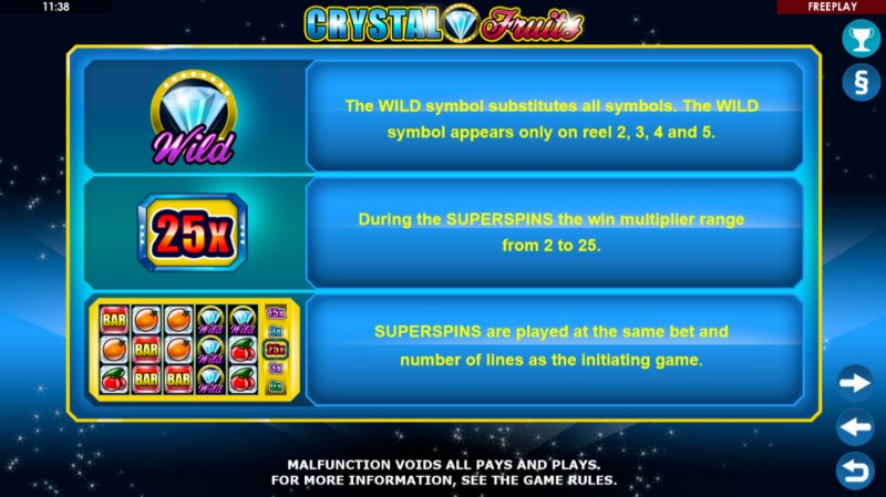 Crystal Fruits :: Feature Rules