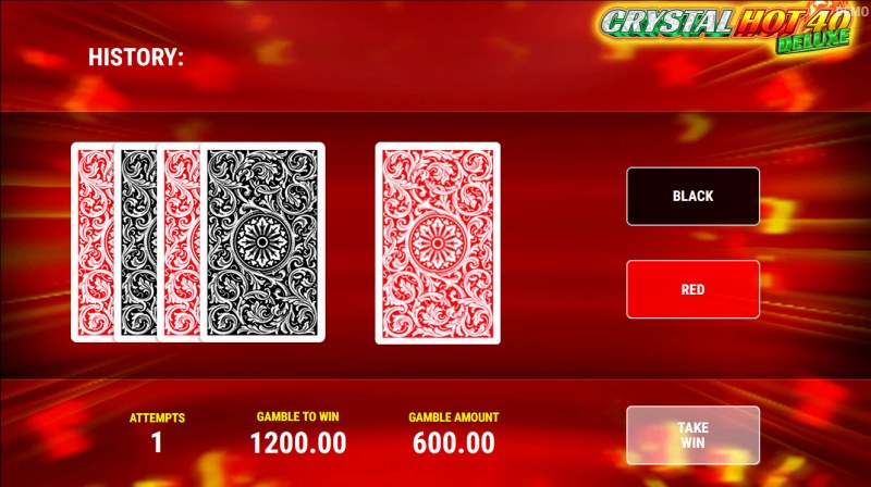 Crystal Hot 40 Deluxe :: Red or Black Gamble Feature