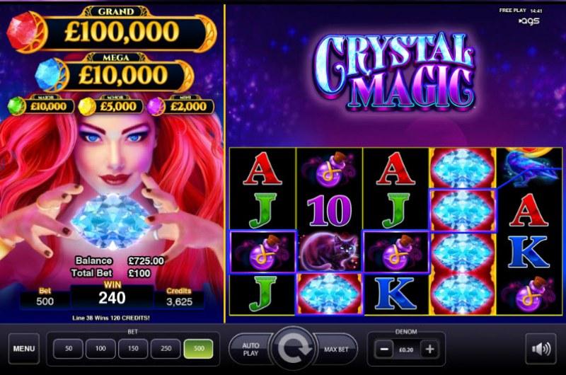 Crystal Magic :: A four of a kind Win