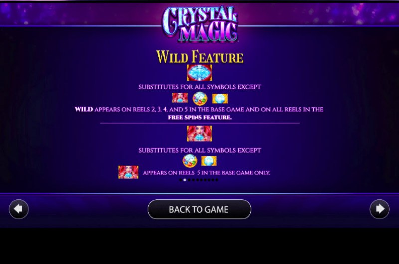 Crystal Magic :: Wild Symbols Rules