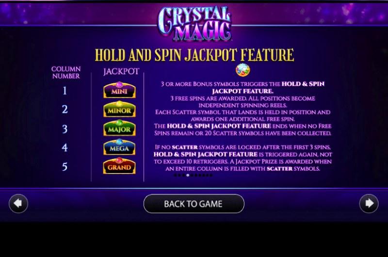 Crystal Magic :: Jackpot Rules