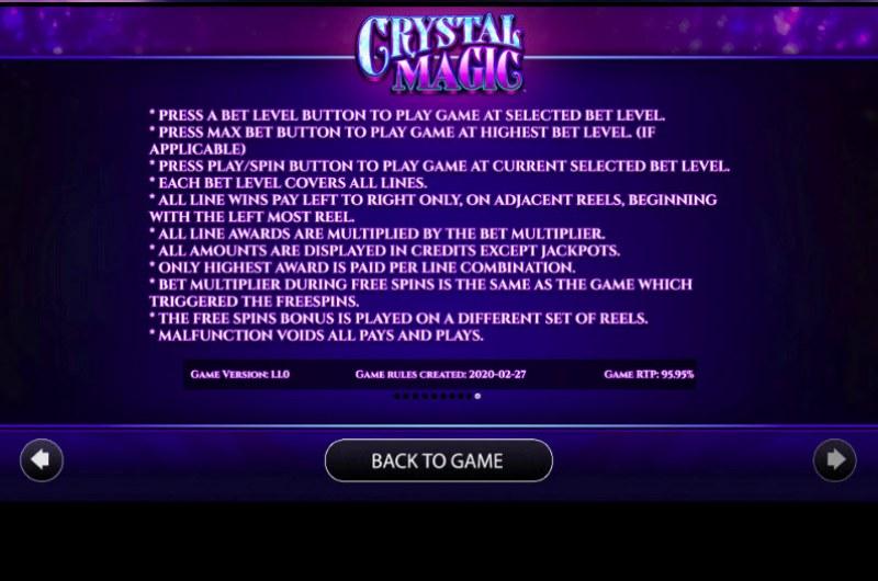 Crystal Magic :: General Game Rules