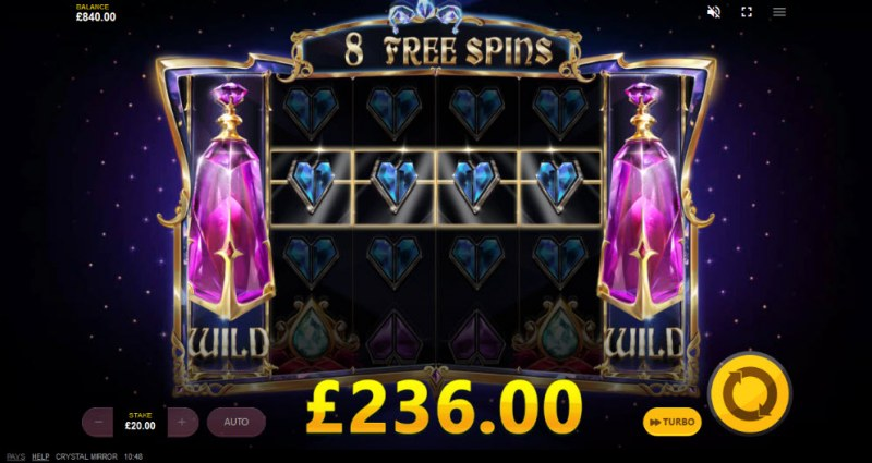 Crystal Mirror :: Free Spins Game Board