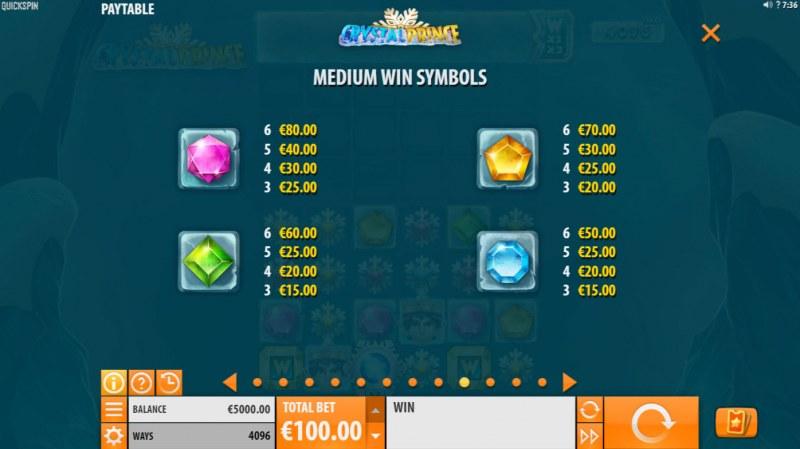 Crystal Prince :: Paytable - Medium Value Symbols