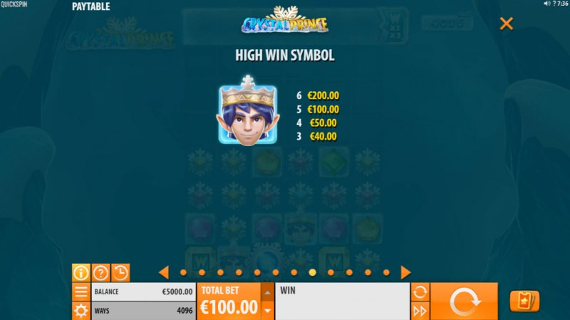 Crystal Prince :: Paytable - High Value Symbols