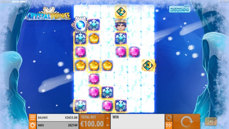 Crystal Prince :: Winning symbols are removed from the reels and new symbols drop in place